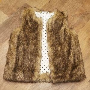 Mud Pie faux fur vest, 4/5T